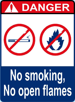 No Smoking No Open Flames