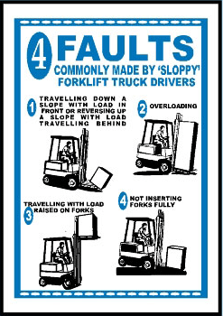 faults commonly made by sloppy forklift