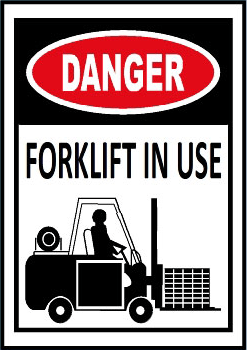 danger forklift in use