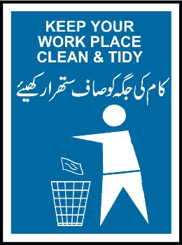 keep your workplace clean and tidy